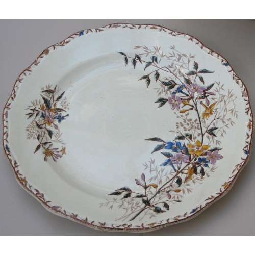 "Thumbnail image for 14 Piece ""Jasmin"" Pattern Part-Dinner Service By Sarreguemines"