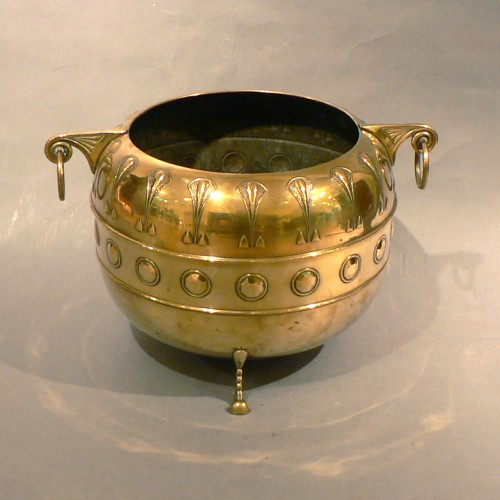 Thumbnail image for Secessionist Brass Jardiniere