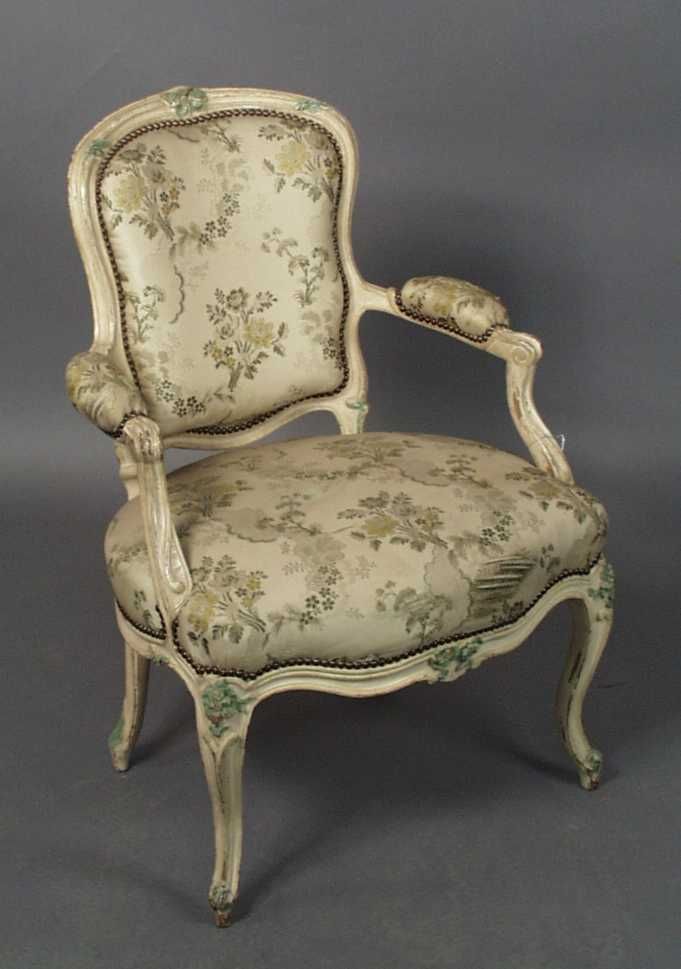 "Thumbnail image for Louis XV Style ""Morgan"" Model Open Armchair"