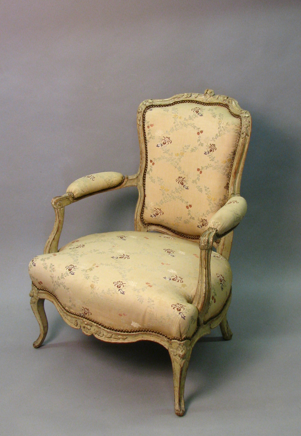 Thumbnail image for Grellou Model Louis XV Style Open Armchair