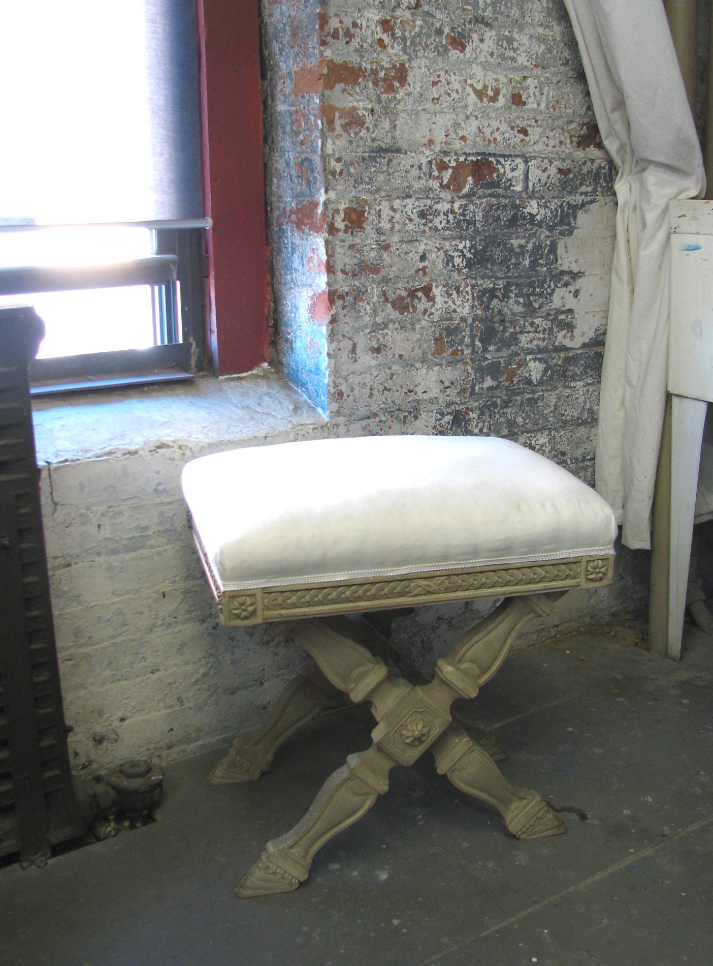 Thumbnail image for Late Louis XVI  Style Folding Bench